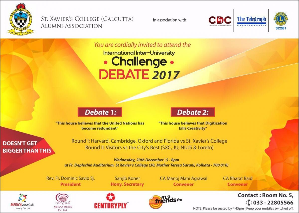 International Inter-University Debate Challenge 2017